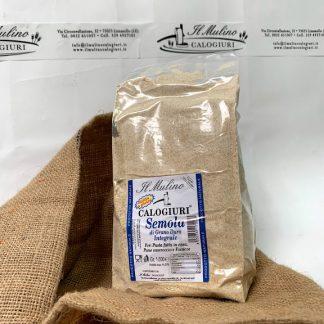 semola integrale di grano duro molita a pietra