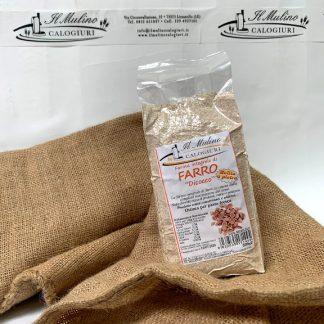 farina integrale di farro dicocco molita a pietra